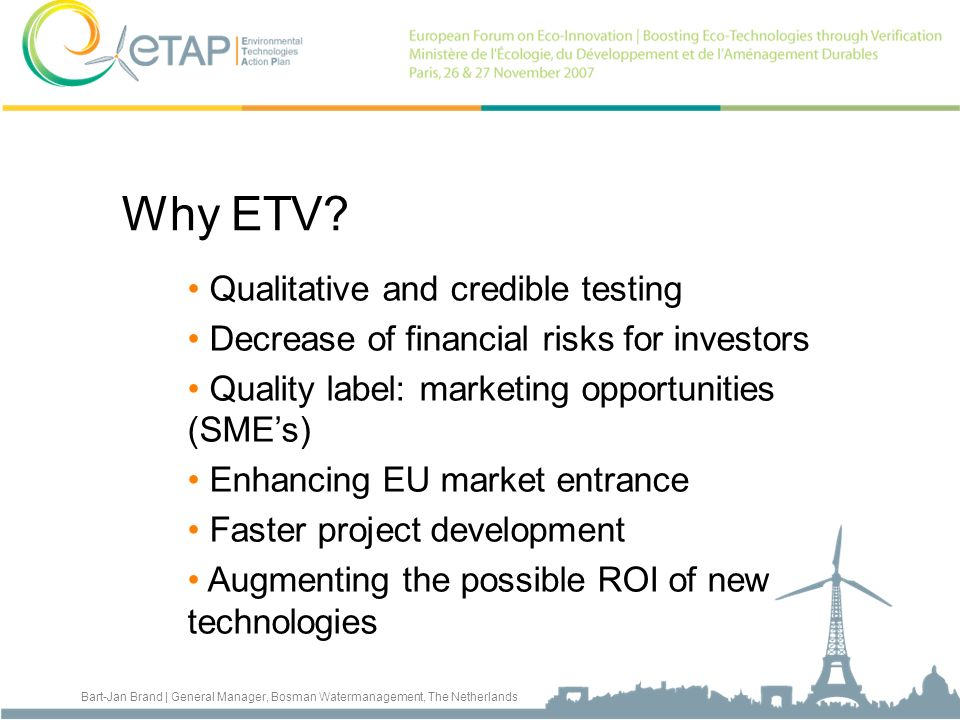 Why ETV Qualitative and credible testing