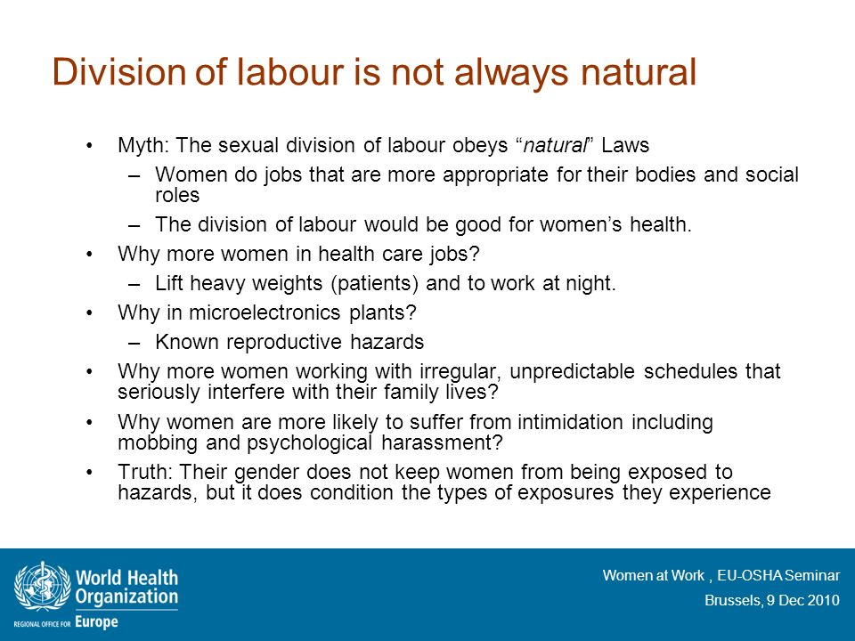 Division of labour is not always natural