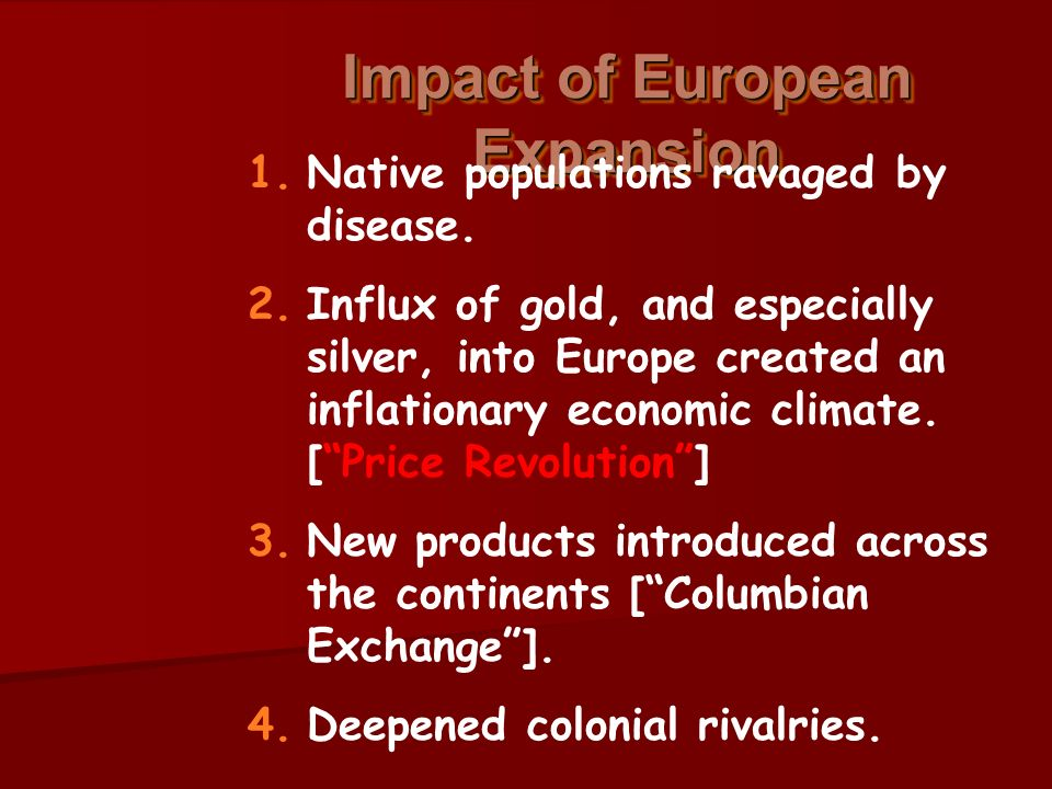 the impact of expansion on native What is the impact of territorial expansion on native populations between 1800 and 1850  westward expansion had a negative impact on native americans theirwhole way of life was taken away .