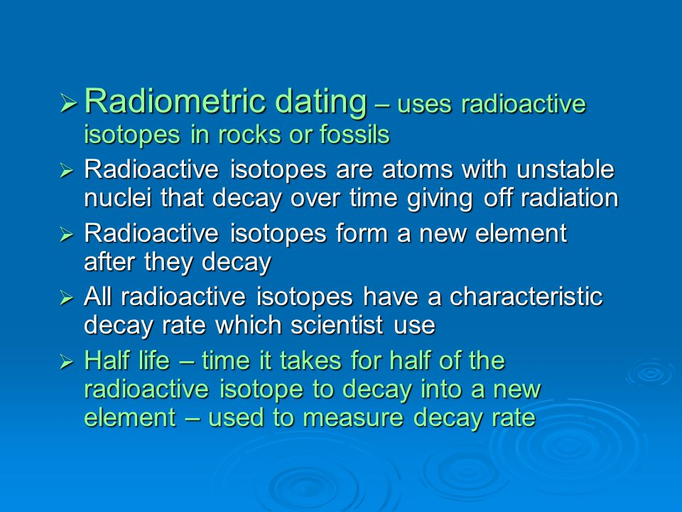 radioactive isotopes Understanding our planet through chemistry - elements, isotopes, and radioactivity.