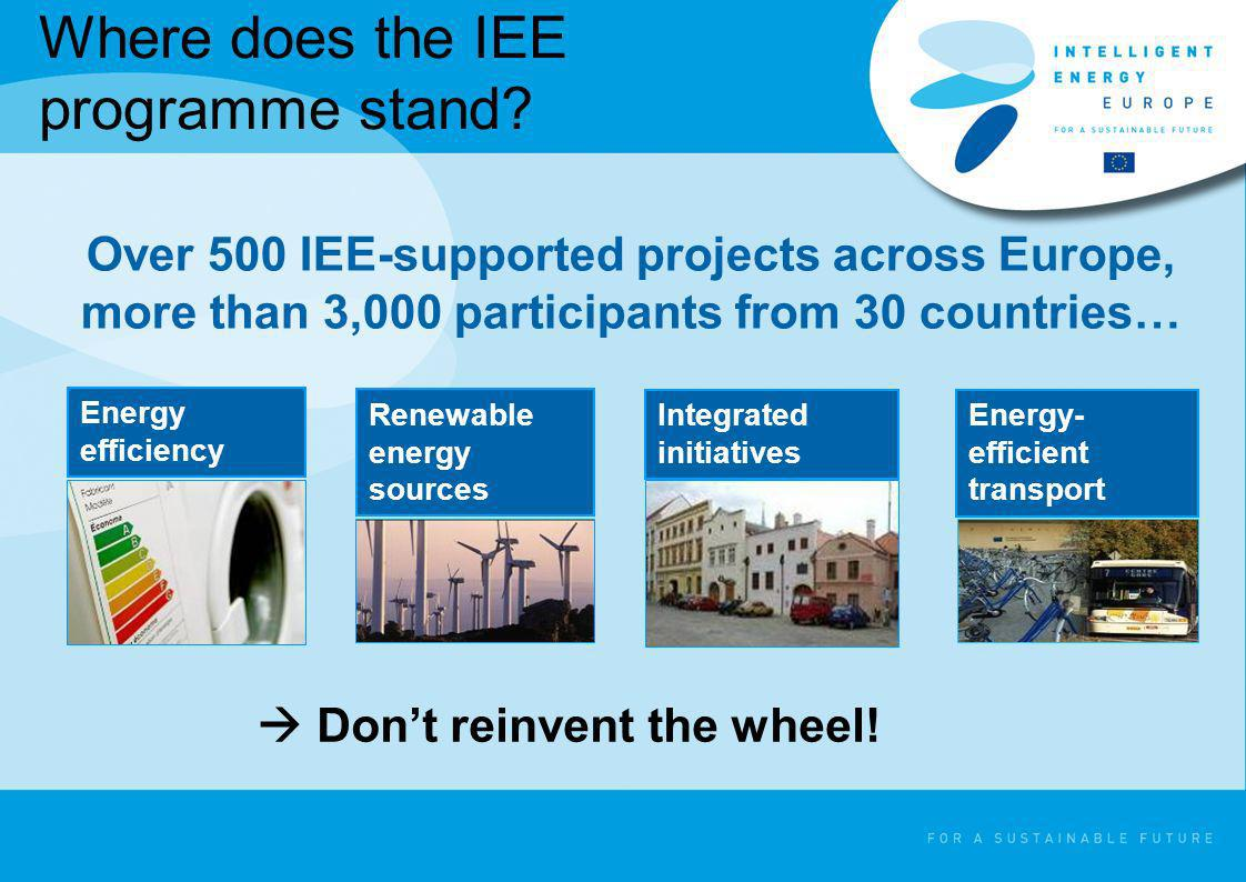 Where does the IEE programme stand