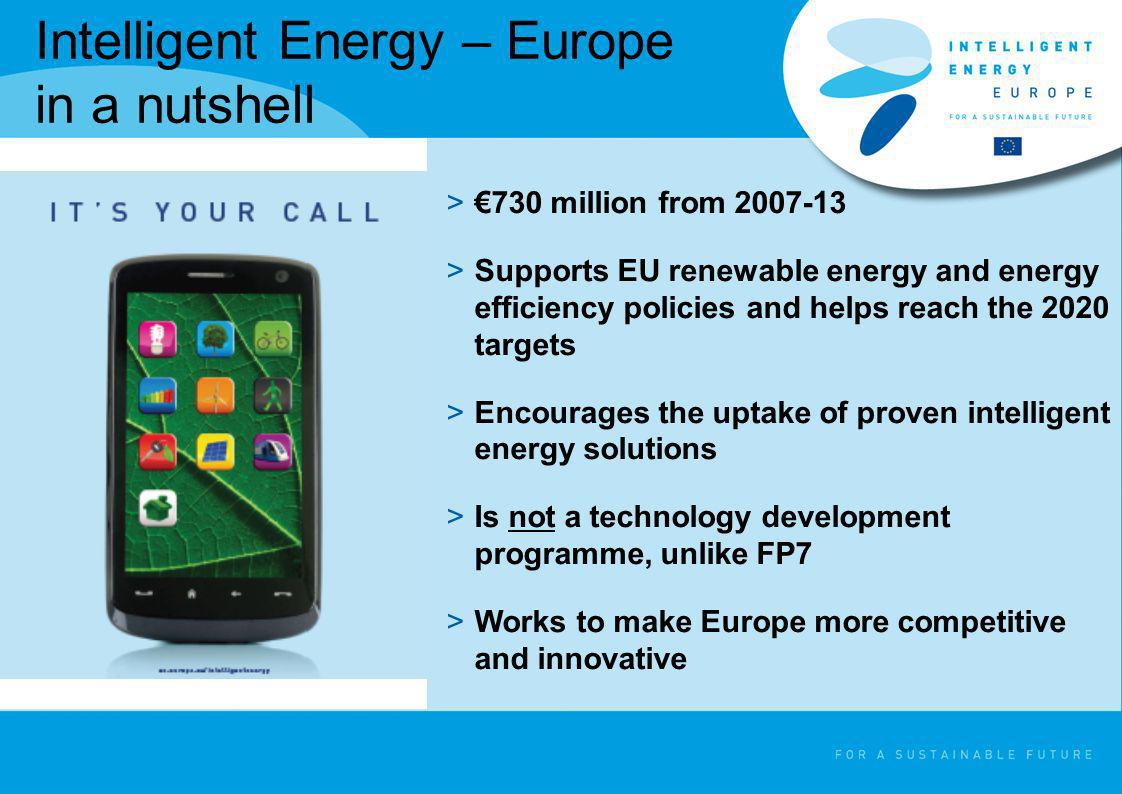 Intelligent Energy – Europe in a nutshell