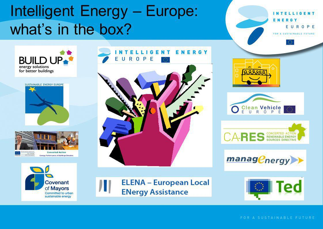 Intelligent Energy – Europe: what's in the box
