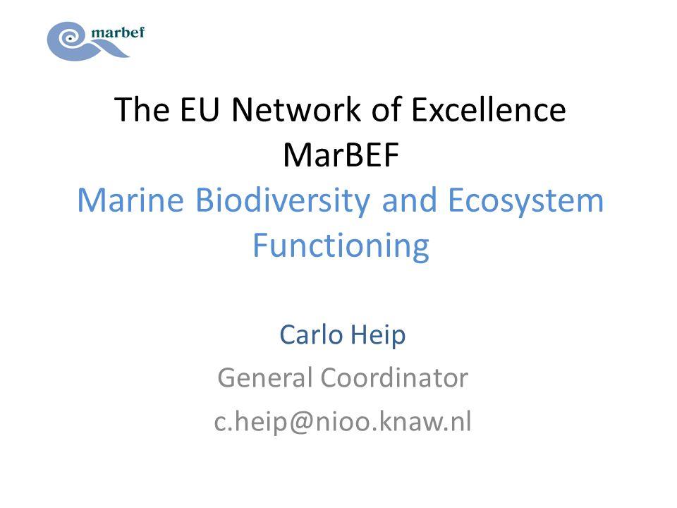 Carlo Heip General Coordinator c.heip@nioo.knaw.nl
