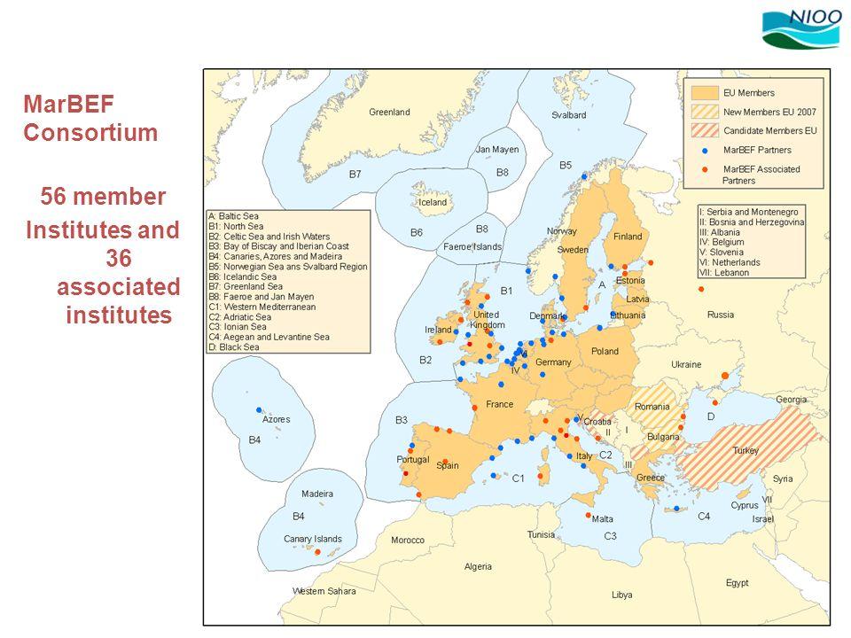 Institutes and 36 associated institutes