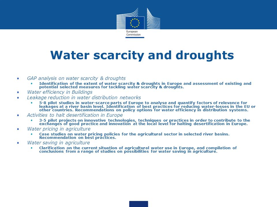 Water scarcity and droughts