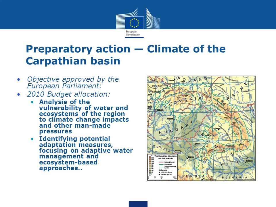 Preparatory action — Climate of the Carpathian basin