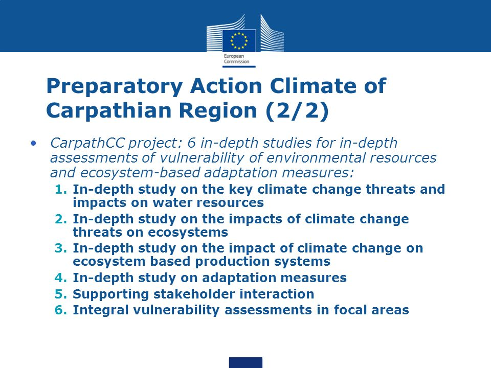Preparatory Action Climate of Carpathian Region (2/2)