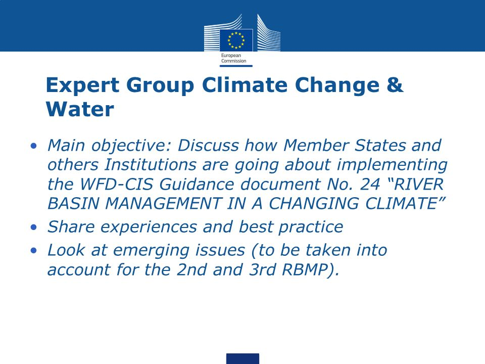 Expert Group Climate Change & Water