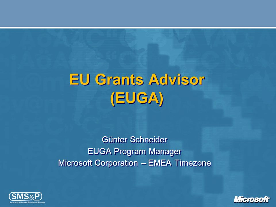 EU Grants Advisor (EUGA)