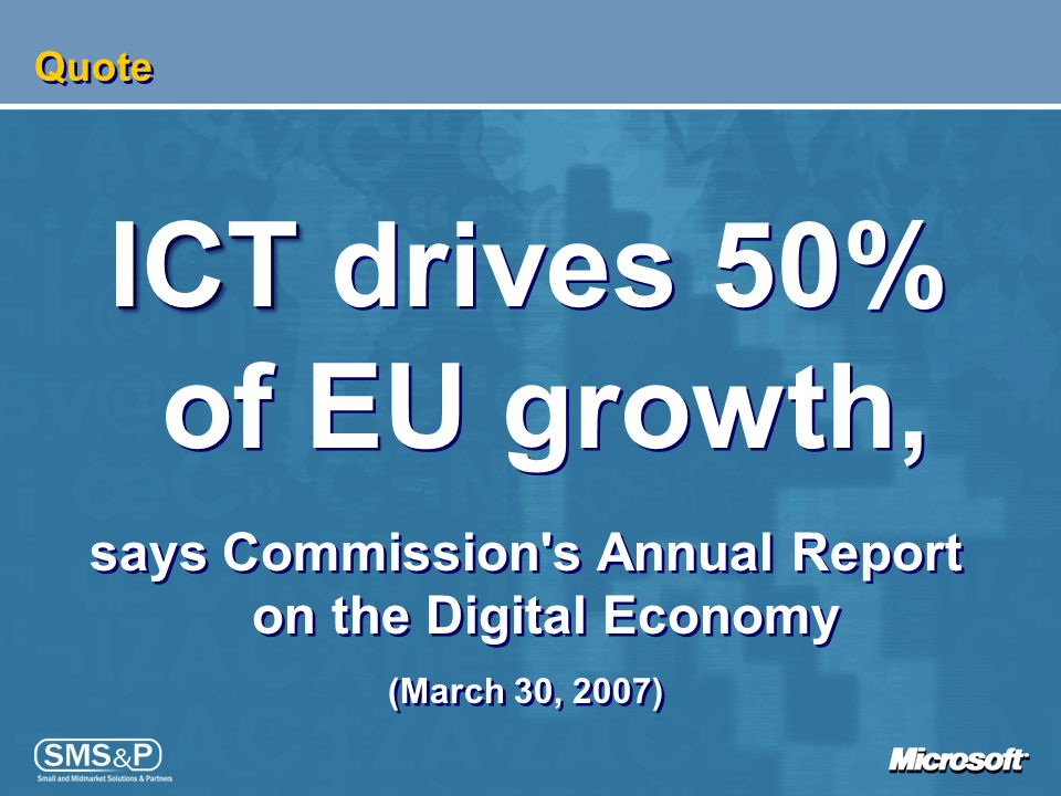 ICT drives 50% of EU growth,