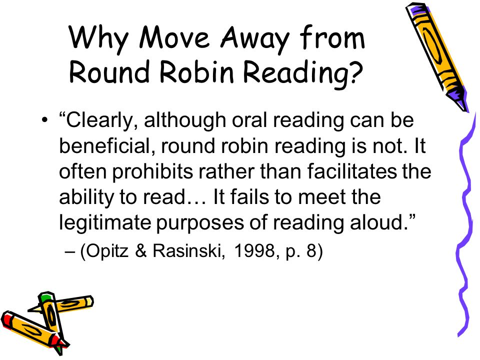 Round Robin Reading Rethought - ppt download