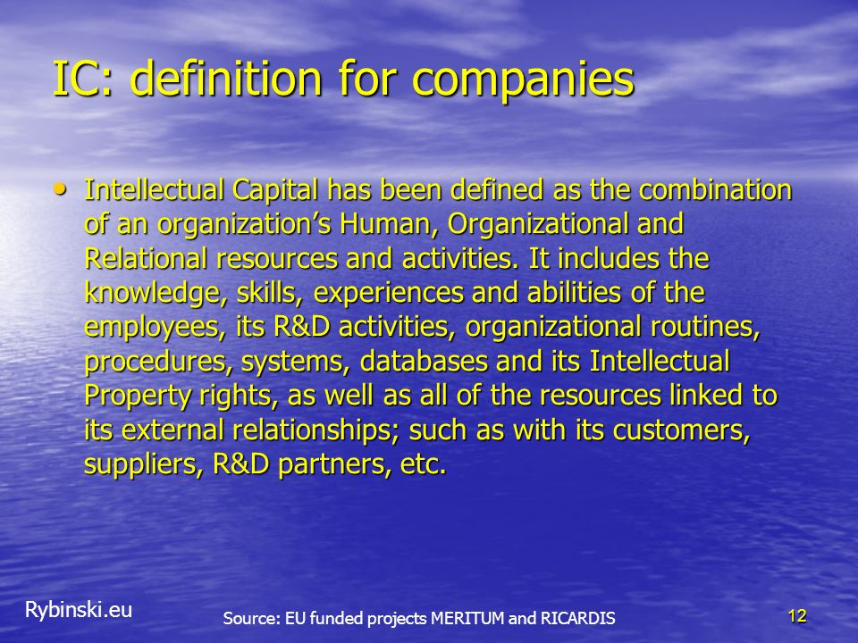 IC: definition for companies