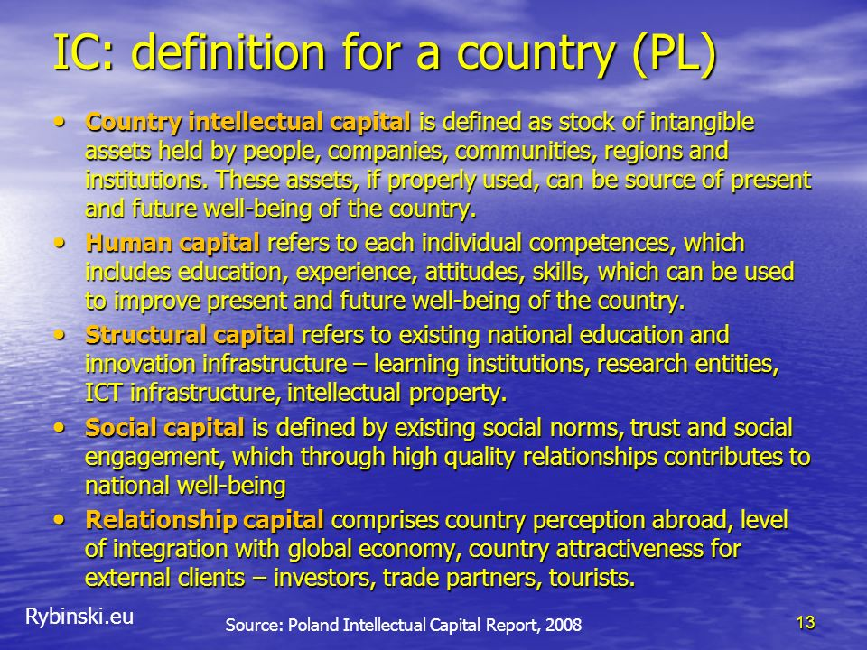 IC: definition for a country (PL)