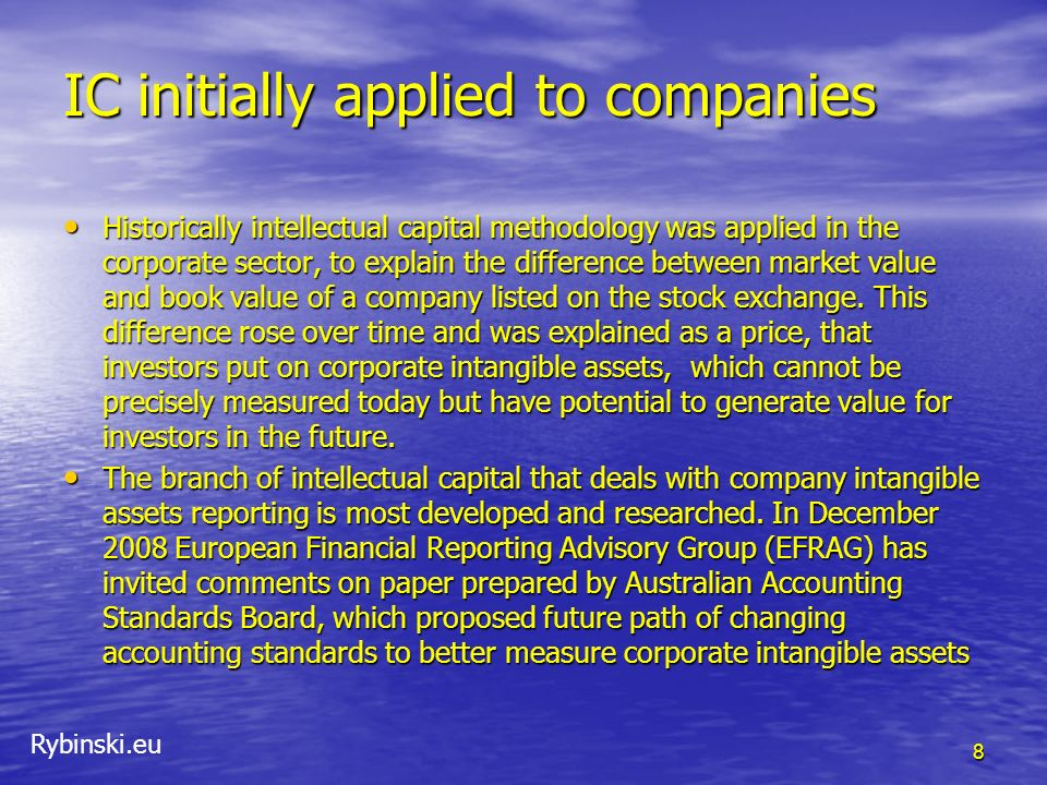 IC initially applied to companies