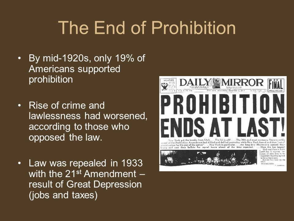 prohibition and the rise of organized Prohibition and organized crime  with such a rise in technology, industrialization, and big business, there was a growing number of jobs and a high necessity for.