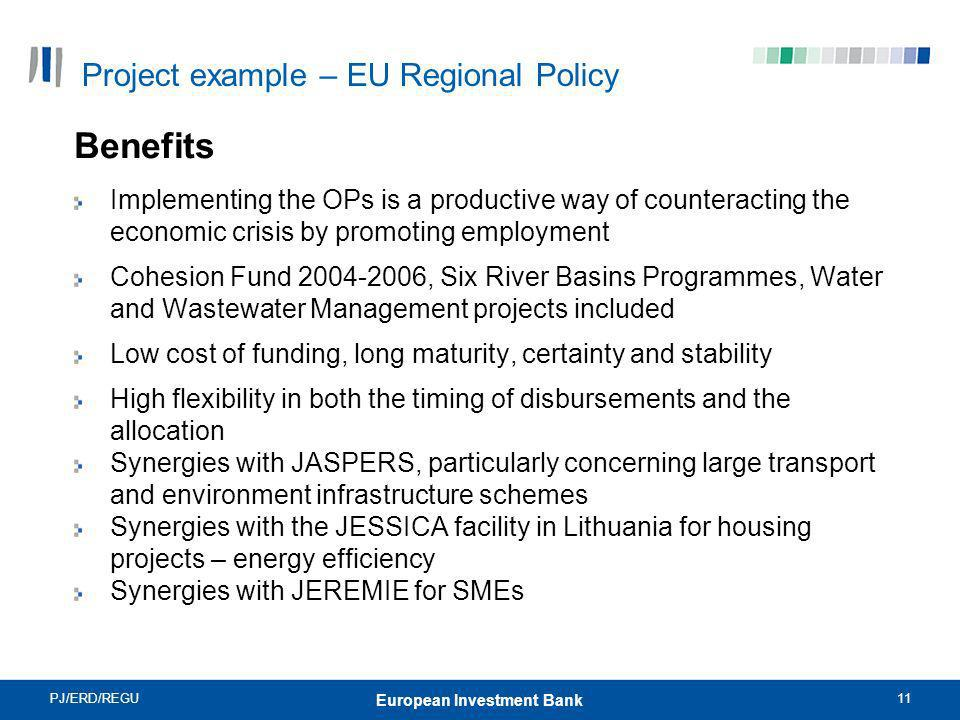 Project example – EU Regional Policy