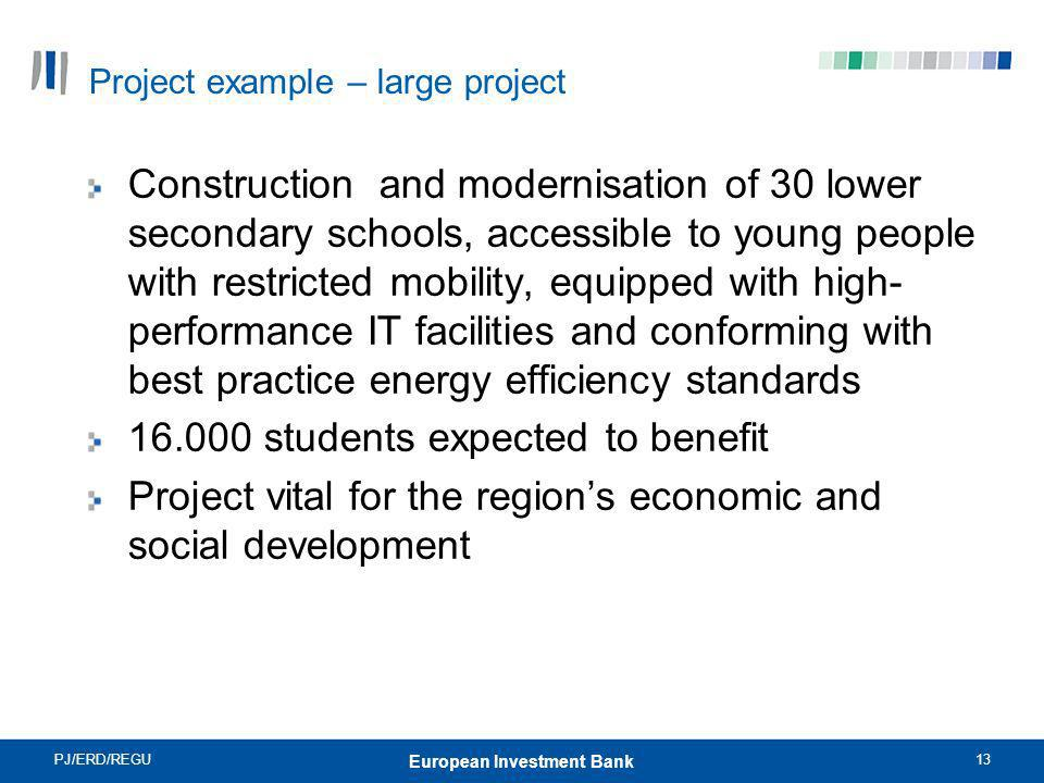 Project example – large project