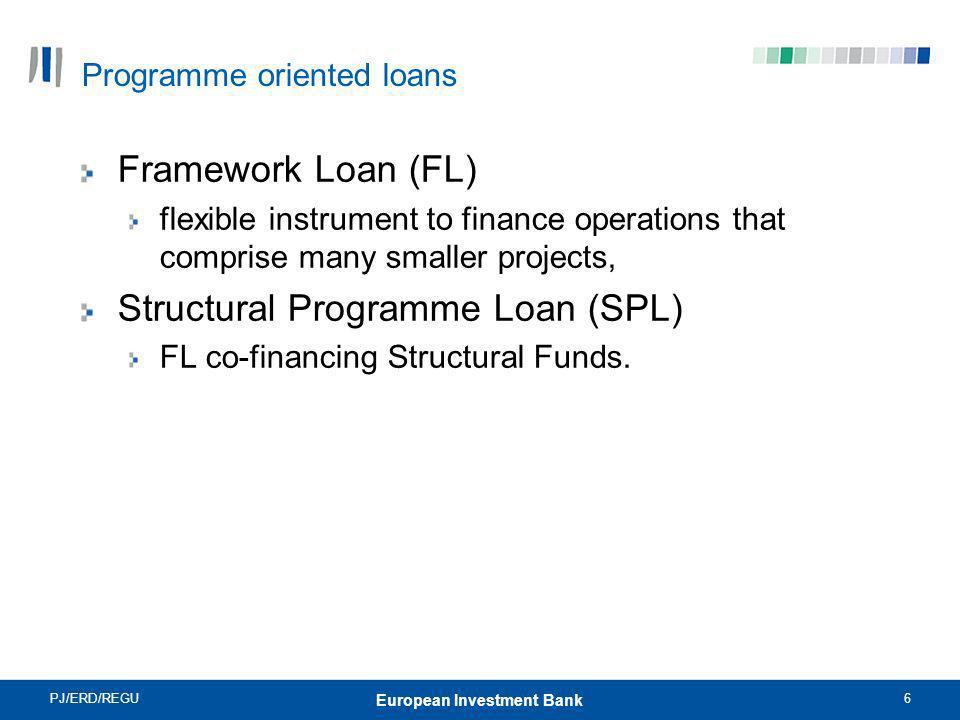 Programme oriented loans