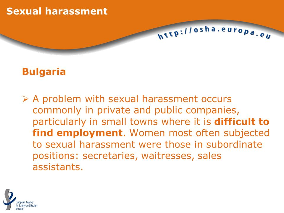 Sexual harassmentBulgaria.