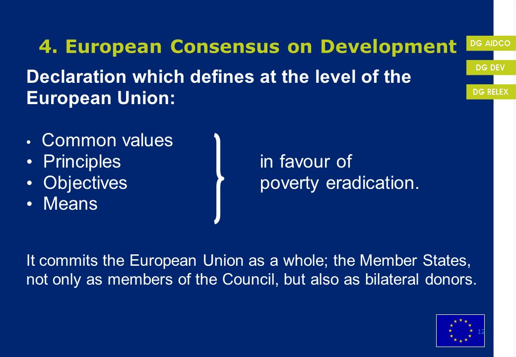 4. European Consensus on Development