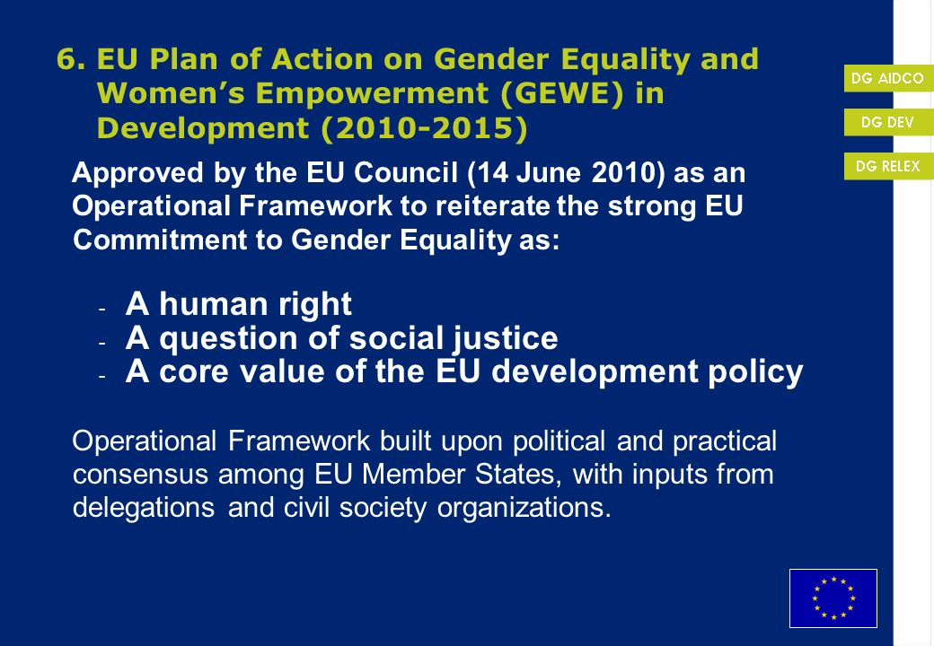 A question of social justice A core value of the EU development policy
