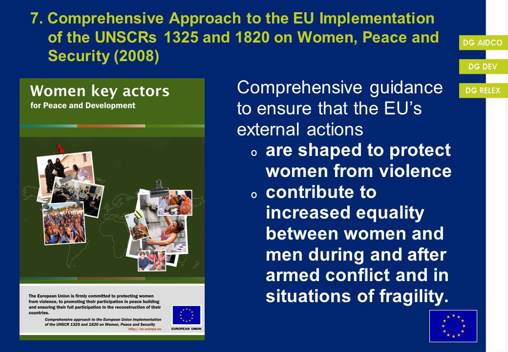 Comprehensive guidance to ensure that the EU's external actions