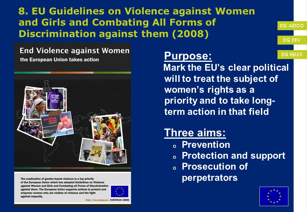 Protection and support Prosecution of perpetrators