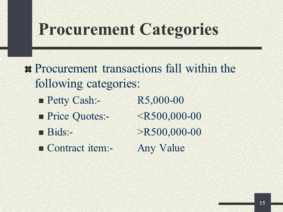 The Procurement Process  Ppt Download