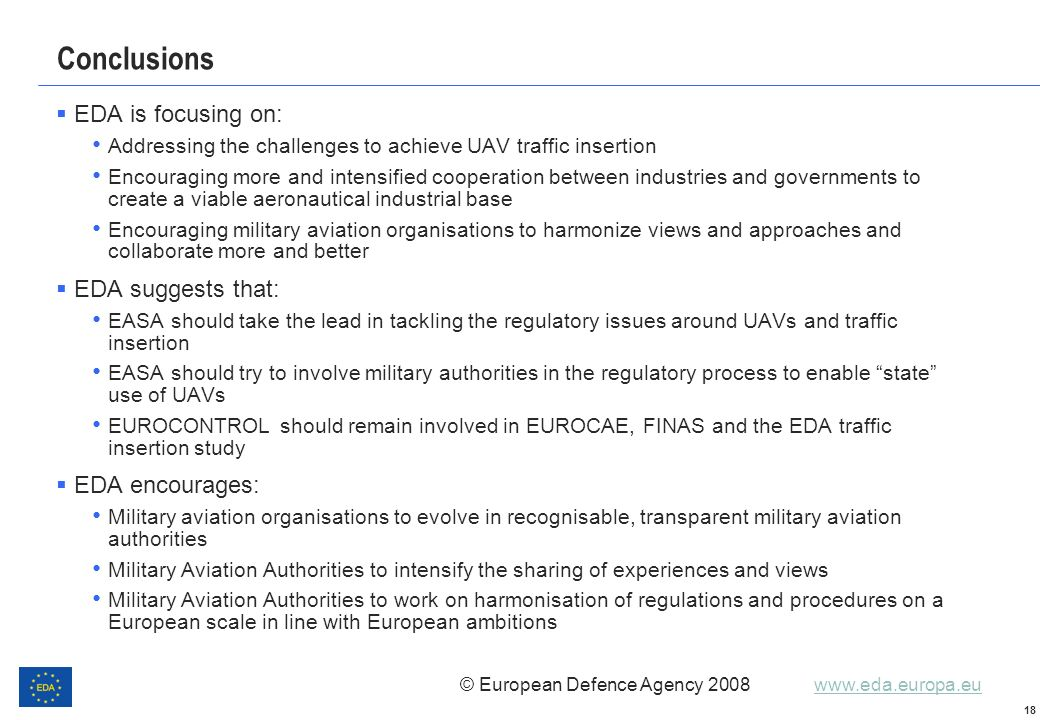 Conclusions EDA is focusing on: EDA suggests that: EDA encourages: