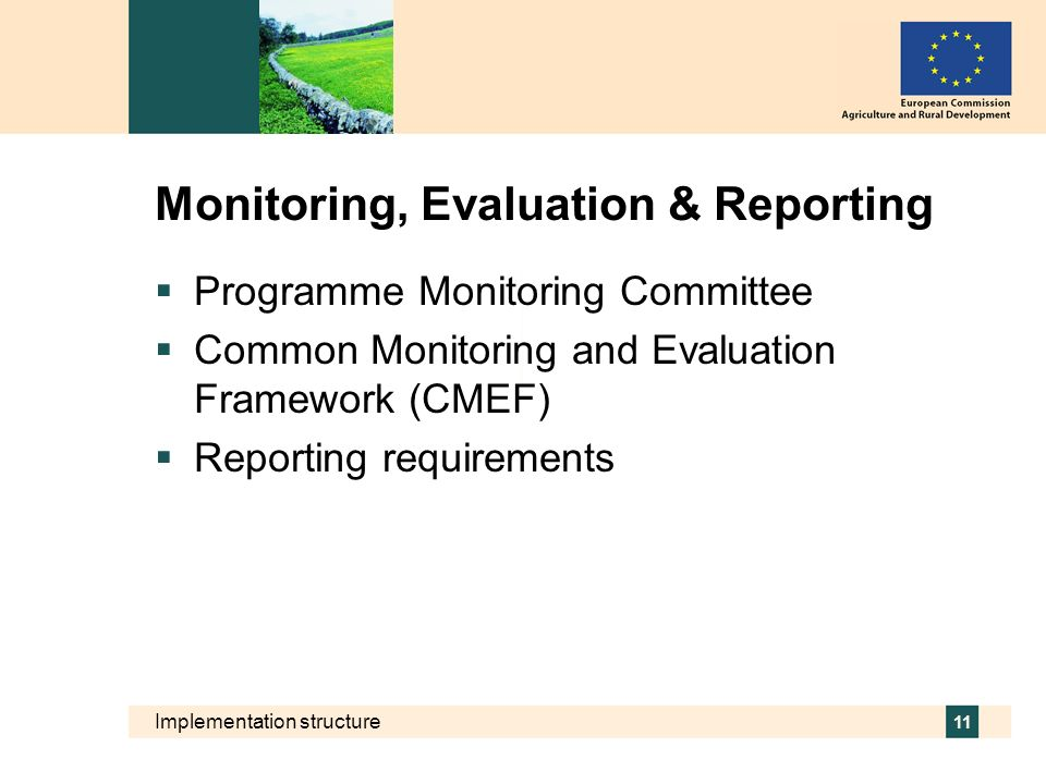 Monitoring, Evaluation & Reporting