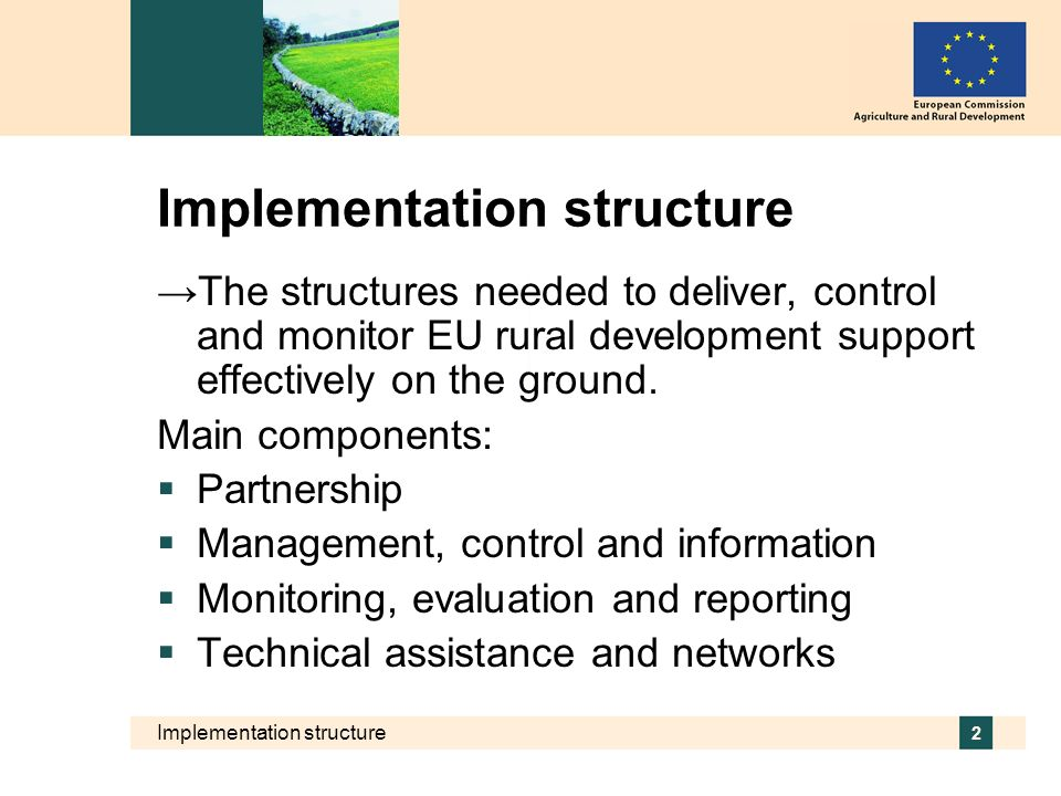 Implementation structure