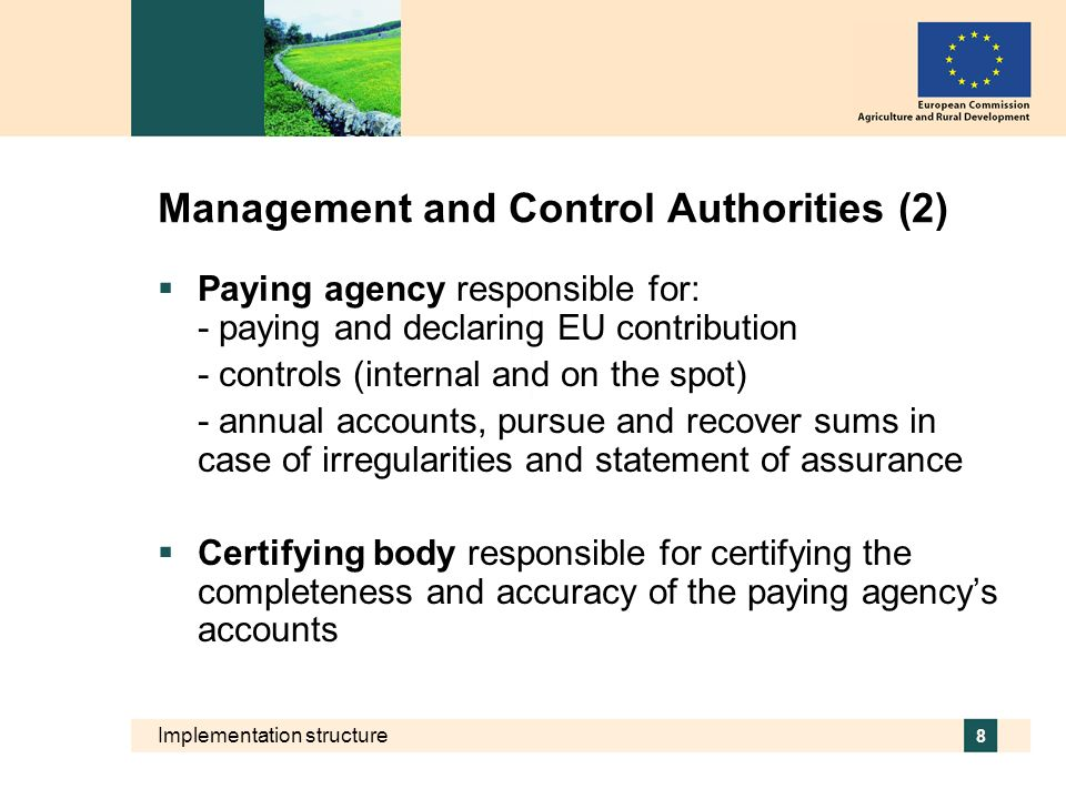 Management and Control Authorities (2)