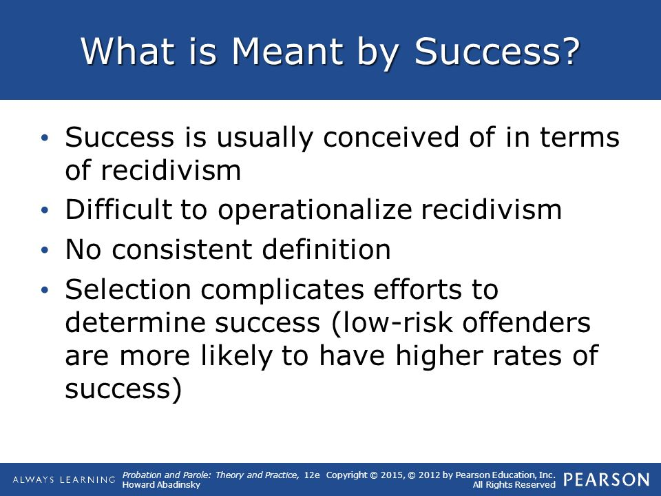 The causes of recidivism