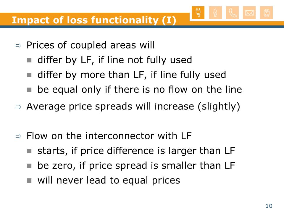 Impact of loss functionality (I)