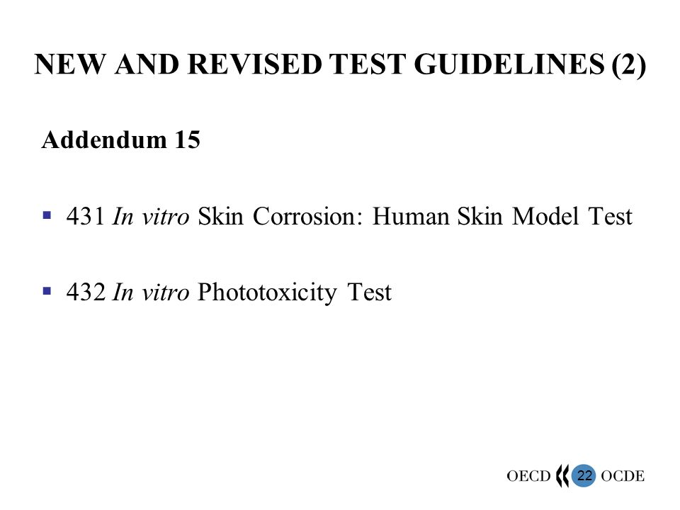 NEW AND REVISED TEST GUIDELINES (2)