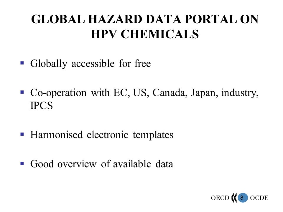 GLOBAL HAZARD DATA PORTAL ON HPV CHEMICALS