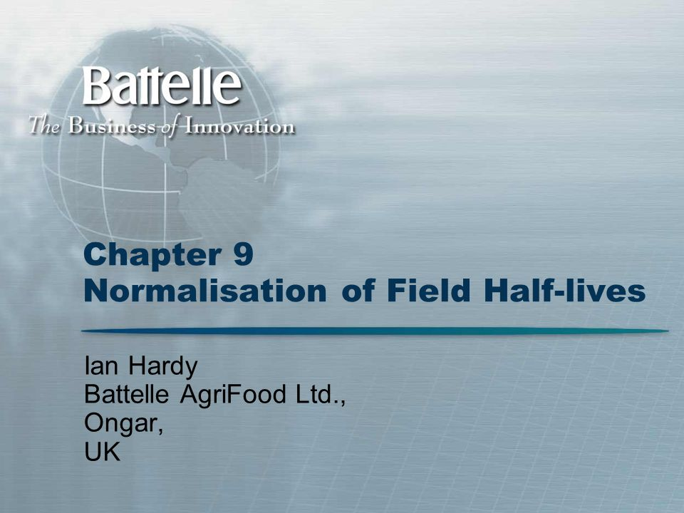 Chapter 9 Normalisation of Field Half-lives