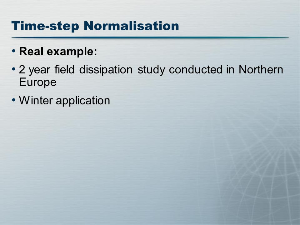 Time-step Normalisation