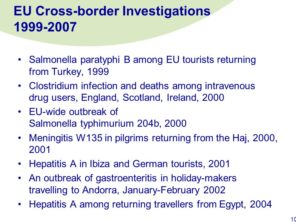 EU Cross-border Investigations 1999-2007