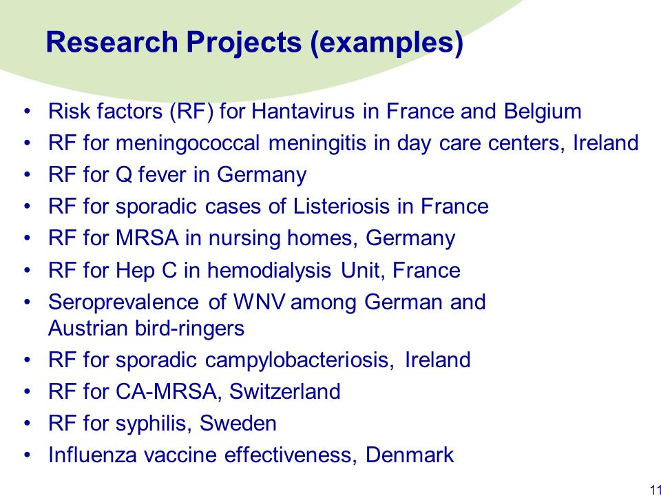 Research Projects (examples)