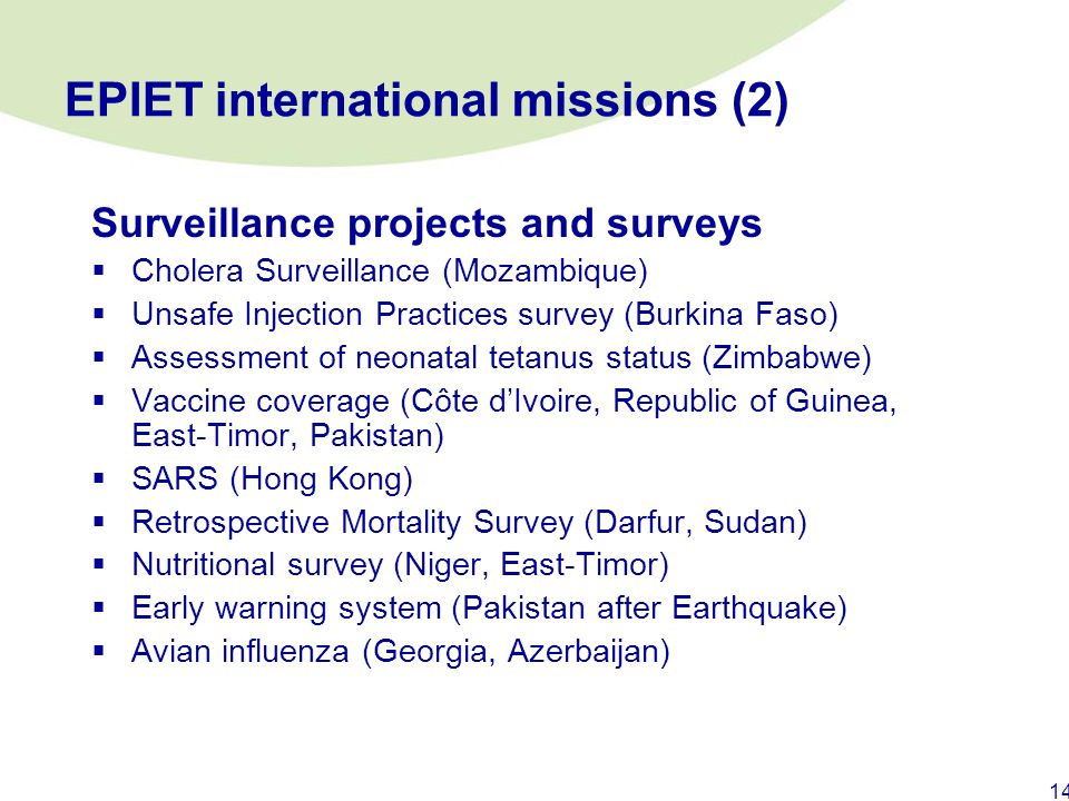 EPIET international missions (2)