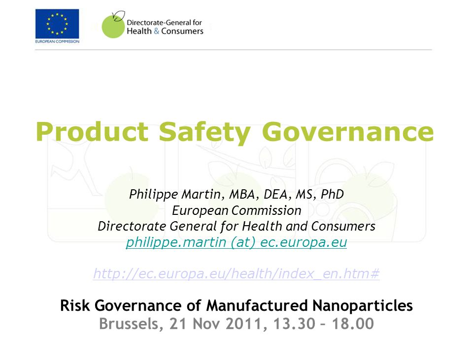 Product Safety Governance