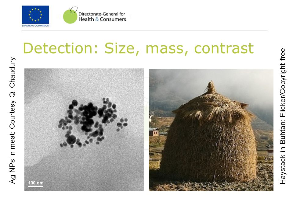 Detection: Size, mass, contrast