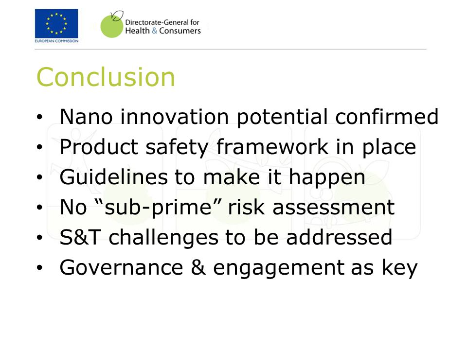 Conclusion Nano innovation potential confirmed