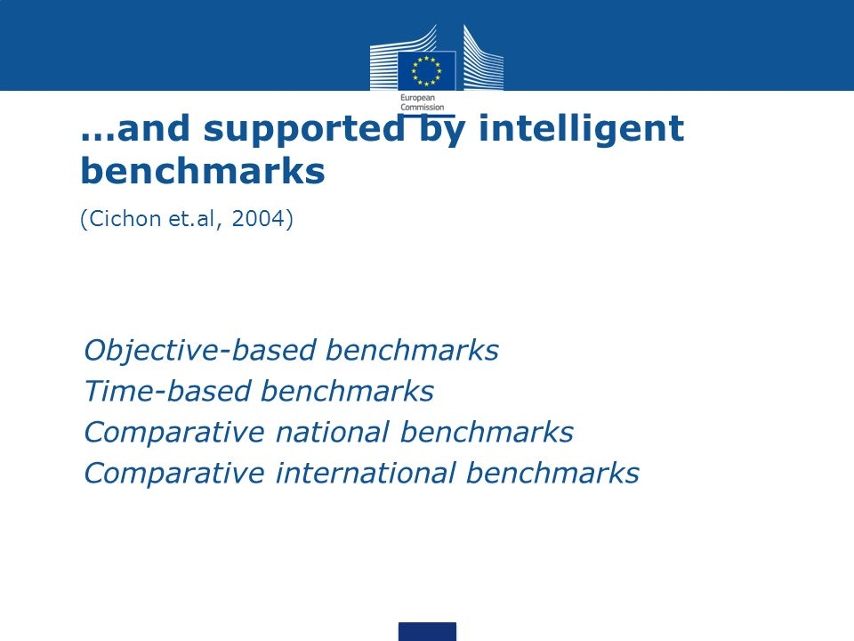 …and supported by intelligent benchmarks (Cichon et.al, 2004)
