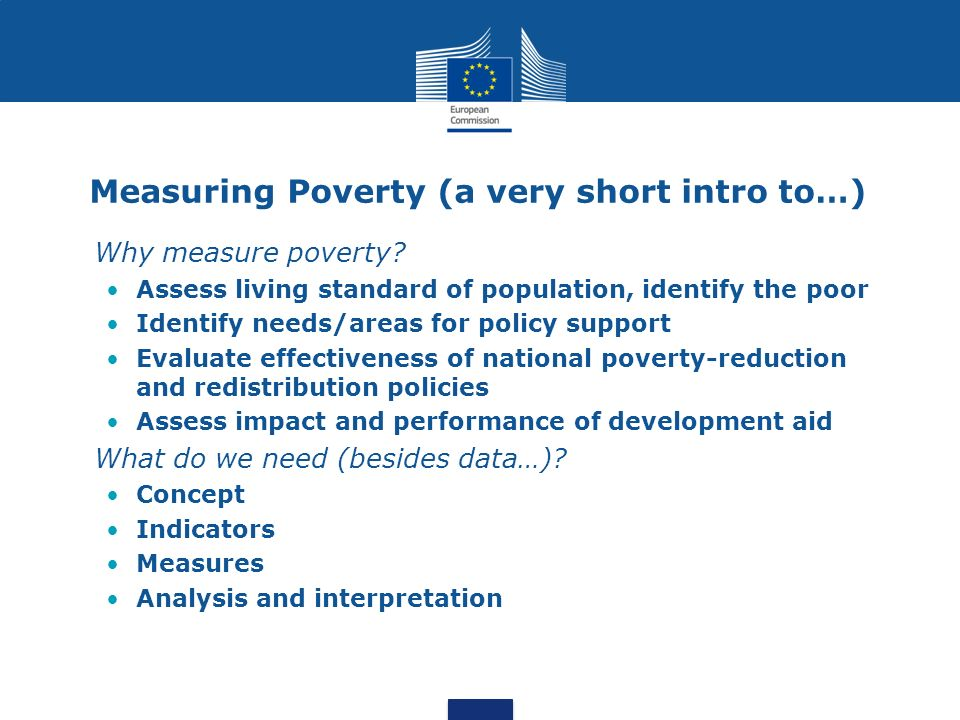 Measuring Poverty (a very short intro to…)