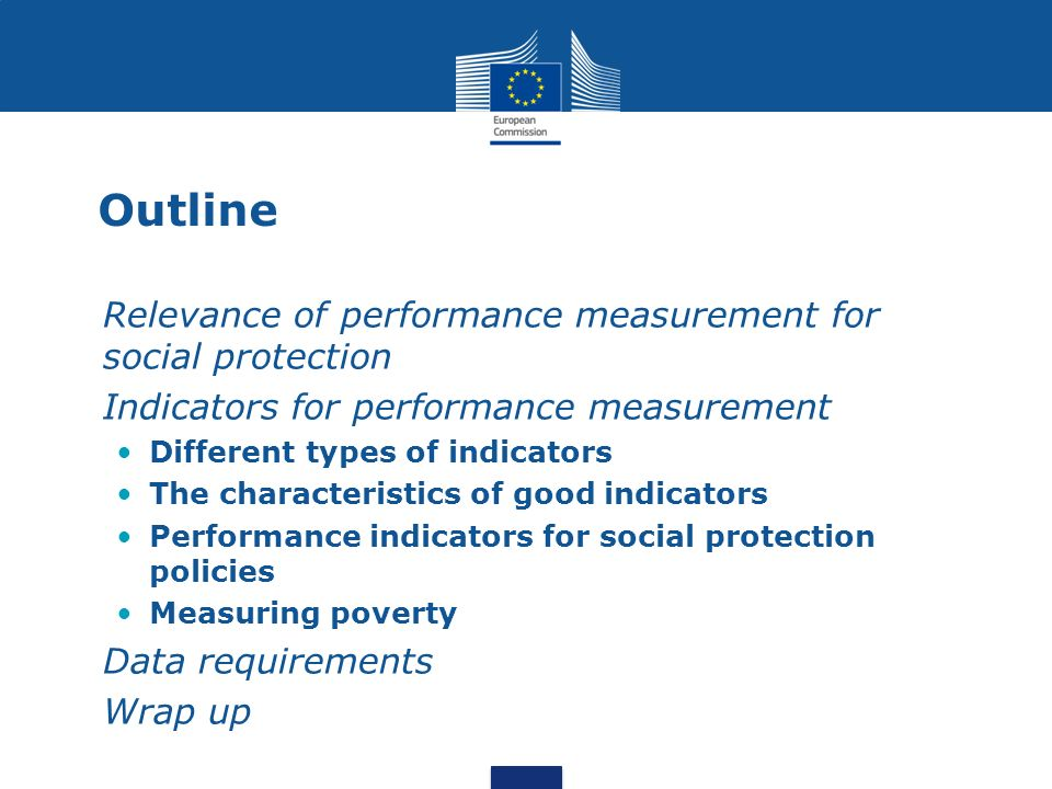 Outline Relevance of performance measurement for social protection
