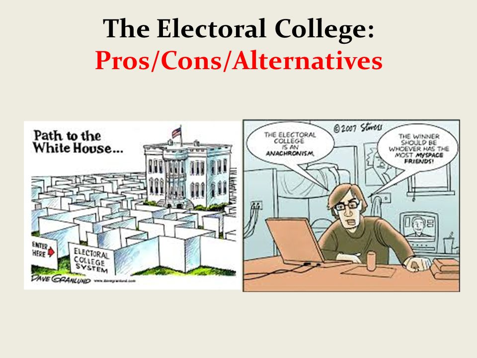 the electoral college pros cons alternatives ppt video online 1 the electoral college pros cons alternatives