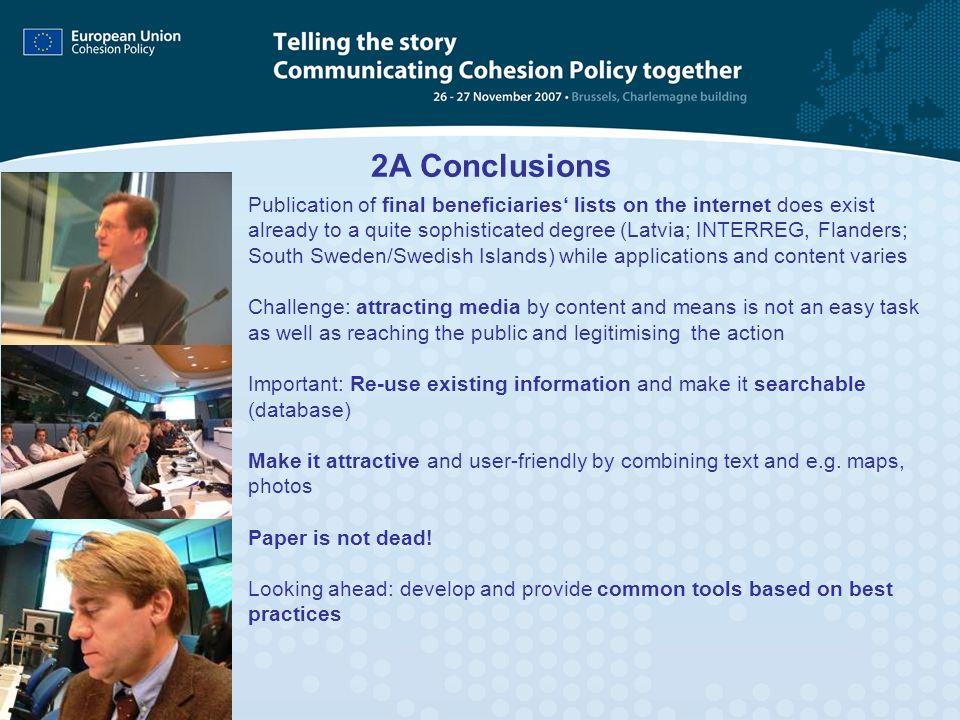 2A Conclusions